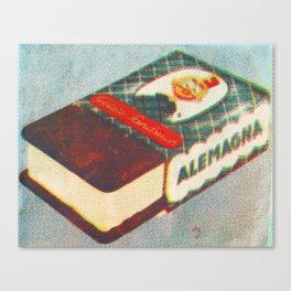 Ice Cream Sandwich Litho  Canvas Print