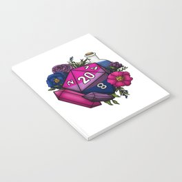 Pride Bisexual D20 Tabletop RPG Gaming Dice Notebook