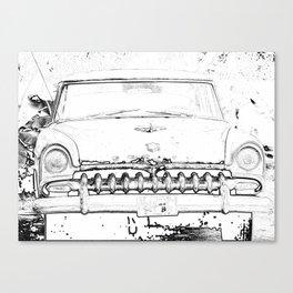 Cool Vintage car sketch art design Canvas Print