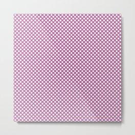 Spring Crocus and White Polka Dots Metal Print