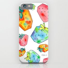 Difference Is Not Wrong watercolor painting strawberry illustration fruits nursery kitchen iPhone Case