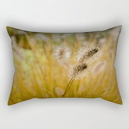 Dew on Ornamental Grass, No. 4 Rectangular Pillow