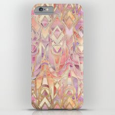 Glowing Coral and Amethyst Art Deco Pattern Slim Case iPhone 6s Plus