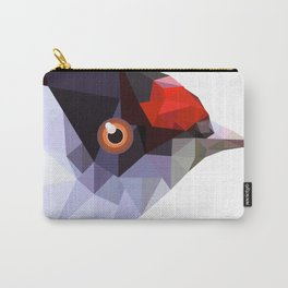Geometric bird Tangarazinho Black Gray red Carry-All Pouch