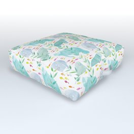Lazy Manatees Outdoor Floor Cushion
