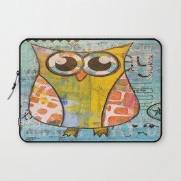 Owl In Blue Laptop Sleeve