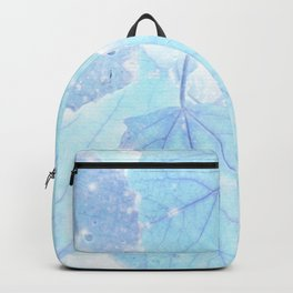 Blue autumn leaves Backpack