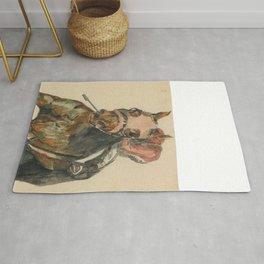 Racehorse Watercolor Rug