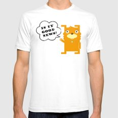 Is it good news?? Mens Fitted Tee White SMALL