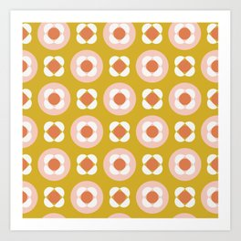 Little Buds Geometric Floral Art Print