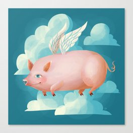 2019: Year of the Pig Canvas Print