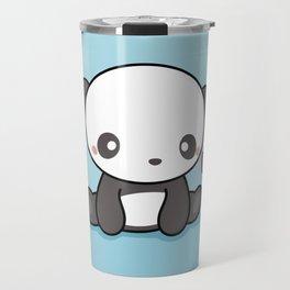 Cute Kawaii Panda With Heart Travel Mug