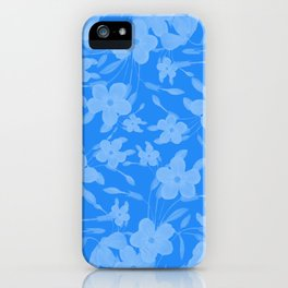 Forget-Me-Not Flowers in Blue iPhone Case