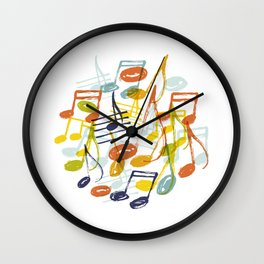 Hand drawn music notes Wall Clock