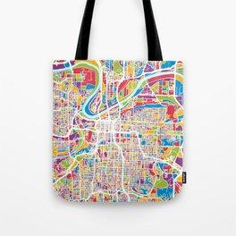 Kansas City Missouri City Map Tote Bag