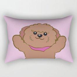 Hug poodle Rectangular Pillow