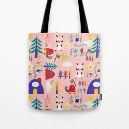 Tortoise and the Hare is one of Aesop Fables pink Tote Bag