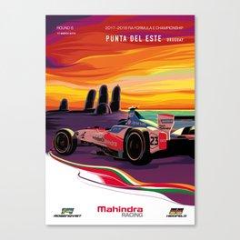Mahindra Racing FIA Formula E Season 4 Punta Del Este E-Prix Poster Canvas Print