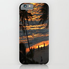 Waikiki Beach Sunset Hawaii iPhone Case