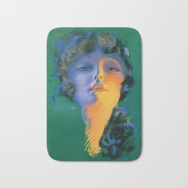 """Girl of My Dreams"" Pinup by Rolf Armstrong Bath Mat"
