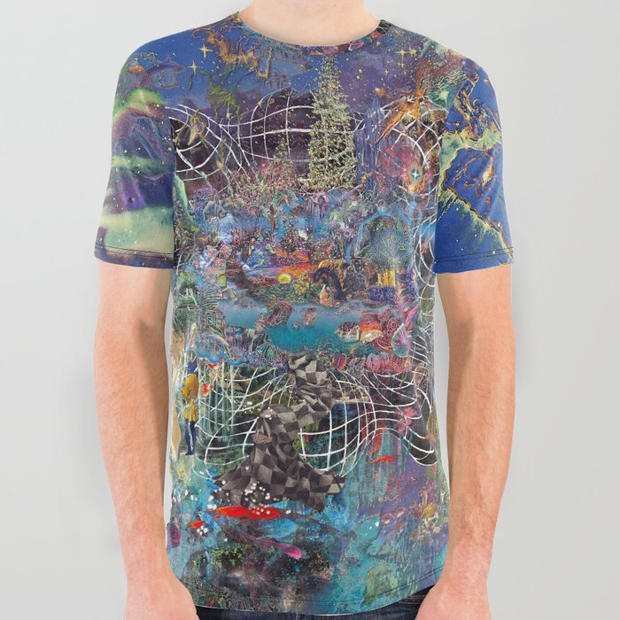 Azure All Over Graphic Tee
