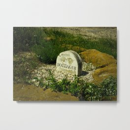 Sign for Bollinger Champagne Grapes Metal Print