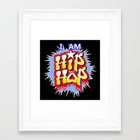 hip hop Framed Art Prints featuring HIP-HOP by DaeSyne Artworks