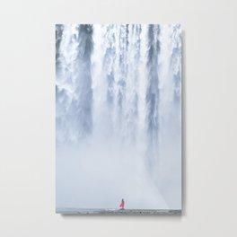 Water curtain Metal Print