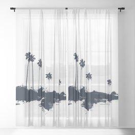 Palm 06 Sheer Curtain