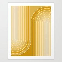 Gradient Curvature VII Art Print