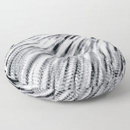 Black & White Pixel Wind Floor Pillow