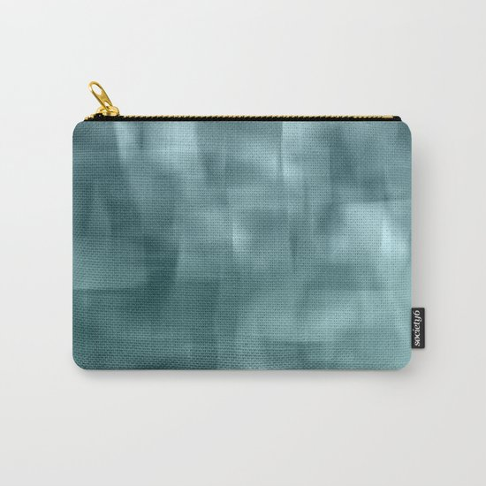 Blue and white abstract ice Carry-All Pouch
