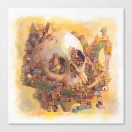 Skull City Canvas Print