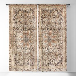 Silk Esfahan Persian Carpet Print Blackout Curtain