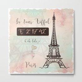 Coordinates Paris Metal Print