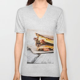 Grilled Cheese with Bacon Unisex V-Neck