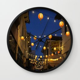 Chinatown Lanterns in L.A. Wall Clock