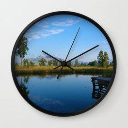 reflection of soul Wall Clock
