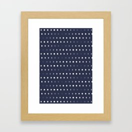 Waxing and Waning Phases of the Moon Pattern Framed Art Print