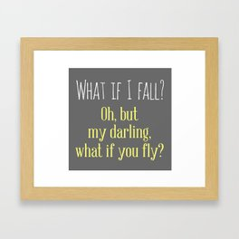 What If I Fall? Framed Art Print