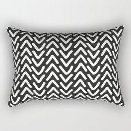 chevron white on black Rectangular Pillow
