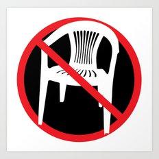 F*ck tha extruded chair! Art Print