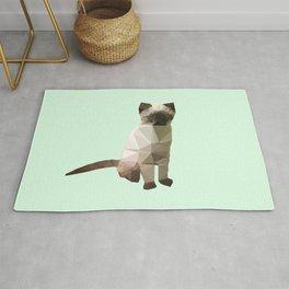 Geometric Siamese Kitten Rug