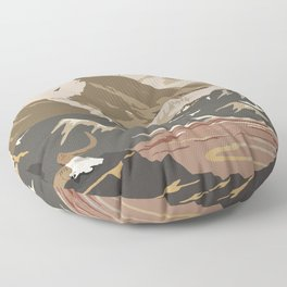National Parks 2050: Denali Floor Pillow