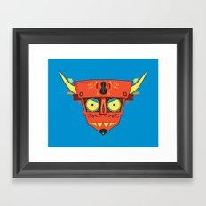 Dia de Los Robot Diablo Framed Art Print
