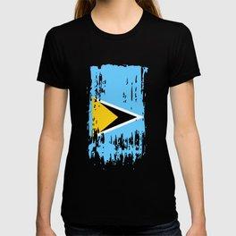 LC LCA Saint Lucia Flag T-shirt
