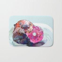 Otter Donut Bath Mat