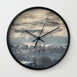 Winter in the City Wall Clock
