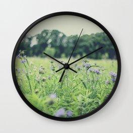 Wildflower Field Wall Clock