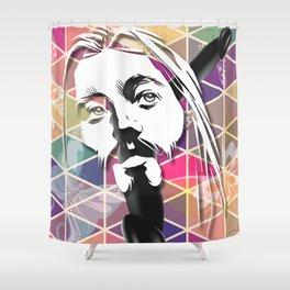 Jesus Likes It Big and Black Shower Curtain